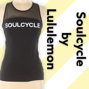 SoulCycle by Lululemon Active Tank, Size 6, B&W